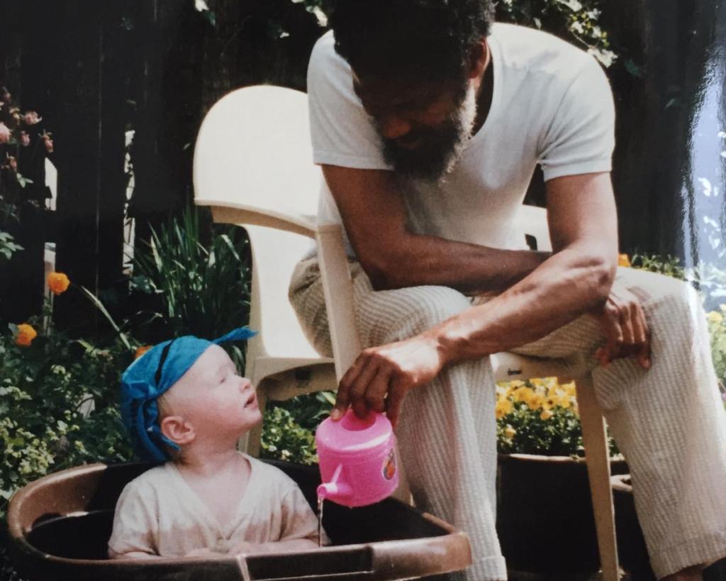 Mijn opa en ik, circa 1993.